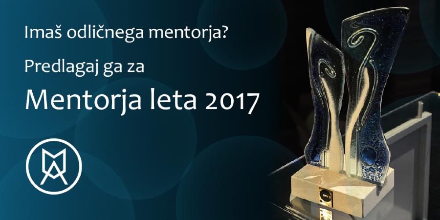 Mentor leta 2017 – klic za vloge