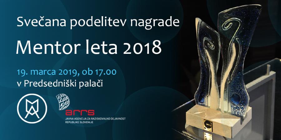 Slavnostna podelitev nagrade Mentor leta 2018