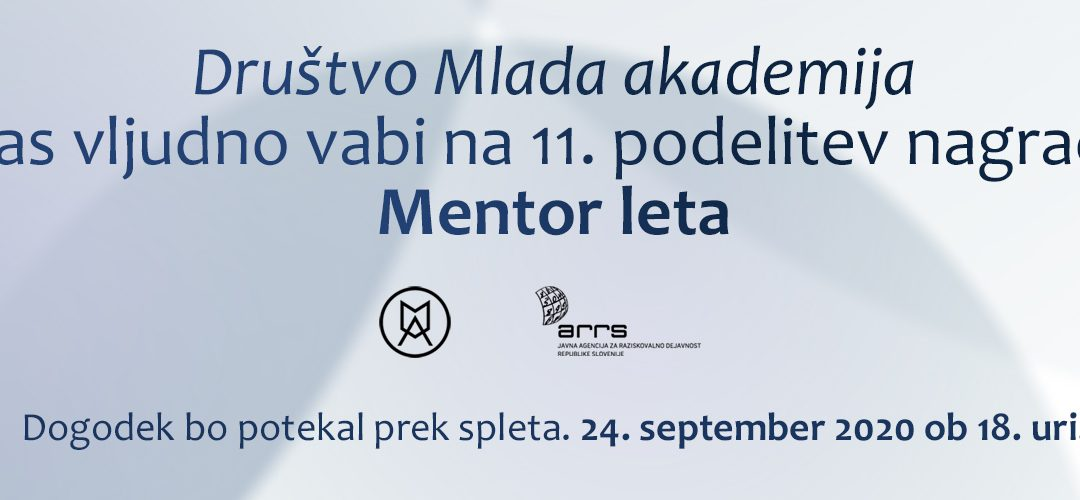 11. podelitev nagrad Mentor leta