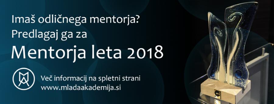 Mentor leta 2018 – klic za vloge