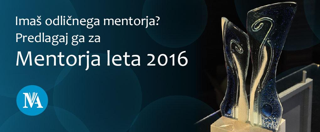 Mentor leta 2016 – klic za vloge
