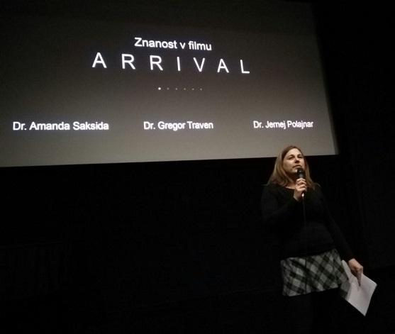Znanost v filmu Arrival, Slovenska kinoteka, december 2017. Foto: Jernej Zupanc.