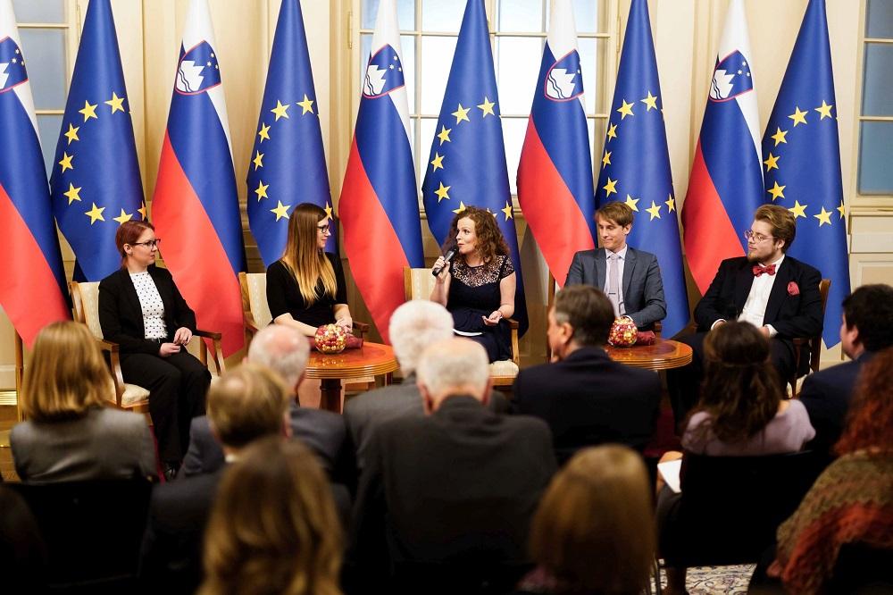 Urška Slapšak gostja tradicionalnega sprejema pri predsedniku RS Borutu Pahorju