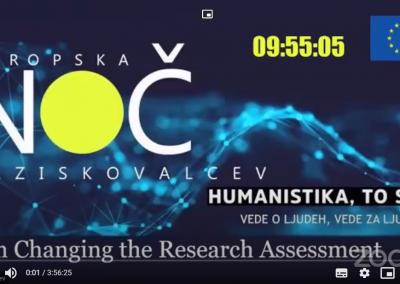 Posvet o spreminjanju vrednotenja raziskovalne dejavnosti – november 2020