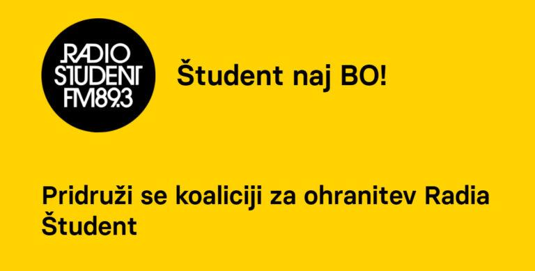 Javna izjava Mlade akademije v podporo Radiu Študent