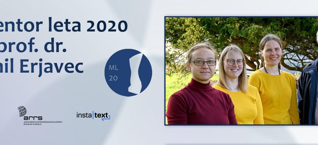 Mentor leta 2020 je prof. dr. Emil Erjavec