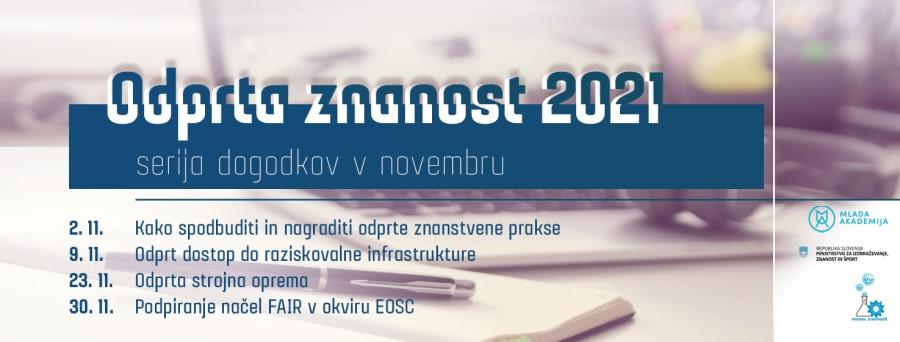 Niz dogodkov Odprta znanost 2021 v novembru